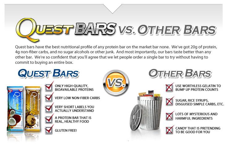 quest bars vs other bars comparison